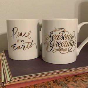 Christmas Coffee Mugs. Set of 2